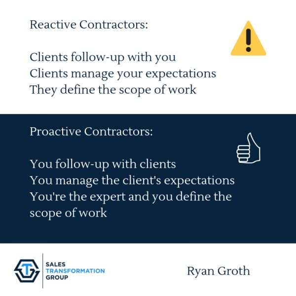 reactive and proactive contractors info with thumbs up