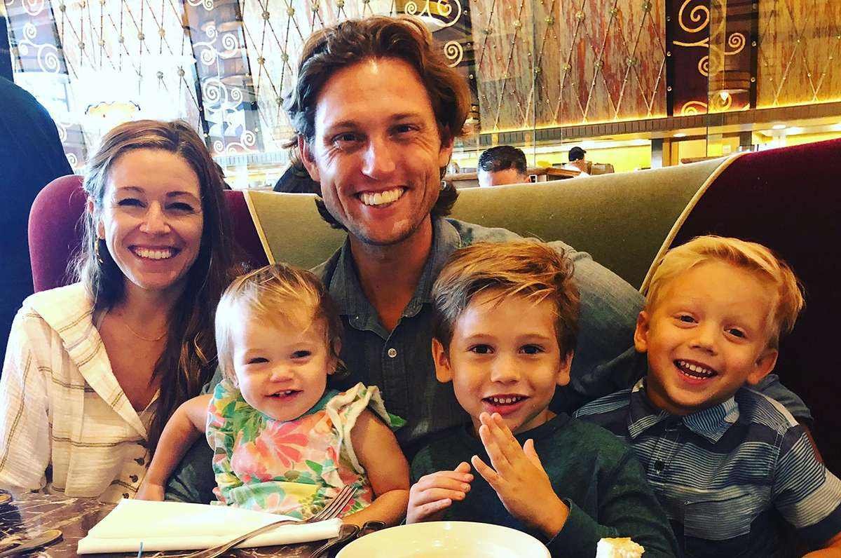 ryans family-wife and 3 kids